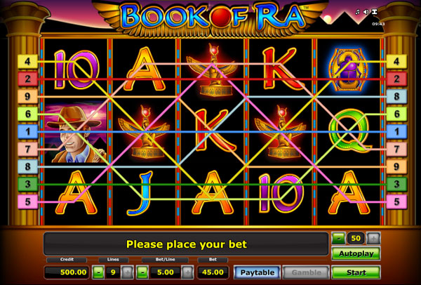 live online casino games book of ra