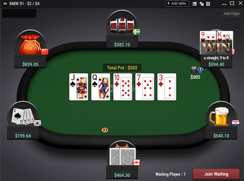 advantage in poker domino